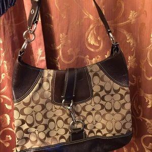 Coach Women Purse Handbag Brown Hobo